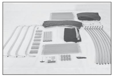 Étalez toutes les pièces et vérifier l'intégralité des composants