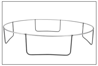 Emboîtez les pieds assemblés lors de l'étape 2 sous le cadre.